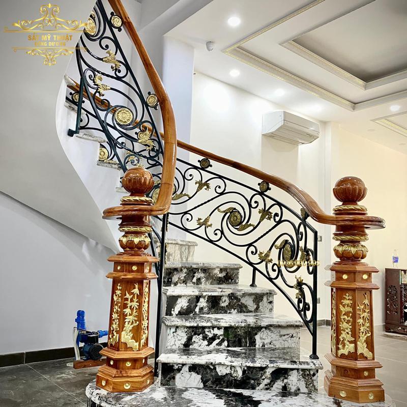 Cầu thang sắt nghệ thuật – CT19010