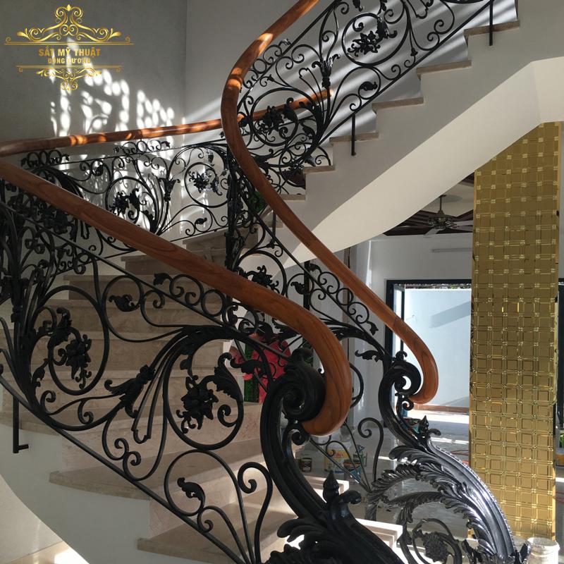 Cầu thang sắt nghệ thuật – CT19026